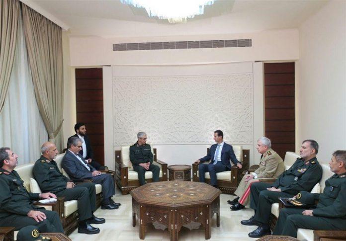 بشار الاسد يستقبل رئيس الأركان الايراني في دمشق