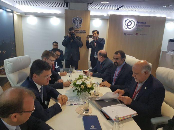وزيرالنفط الايراني يجري مباحثات مع وزير الطاقة الروسي في موسكو