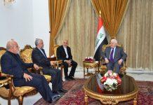 الرئیس العراقی يرحب بتعزيز العلاقات التجارية مع ايران