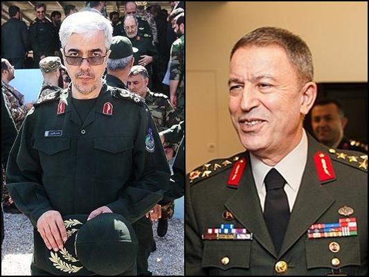 Iranian, Turkish Top Military Chiefs Hold Talks in Tehran