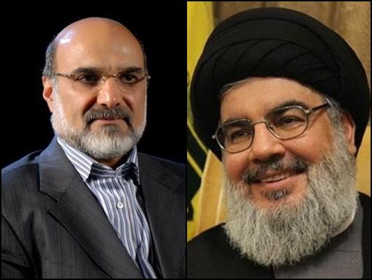 رئيس الاذاعة والتلفزيون الايراني يلتقي امين عام حزب الله في بيروت