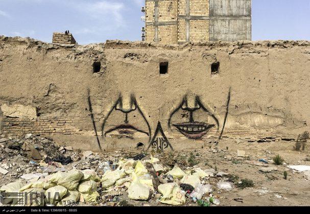 دیوارهای پوشیده از «گرافیتی» بندر عباس10