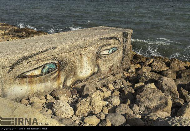 دیوارهای پوشیده از «گرافیتی» بندر عباس11