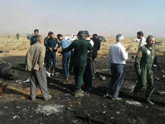Se estrella avión de combate Sujoi-22 del CGRI en Irán
