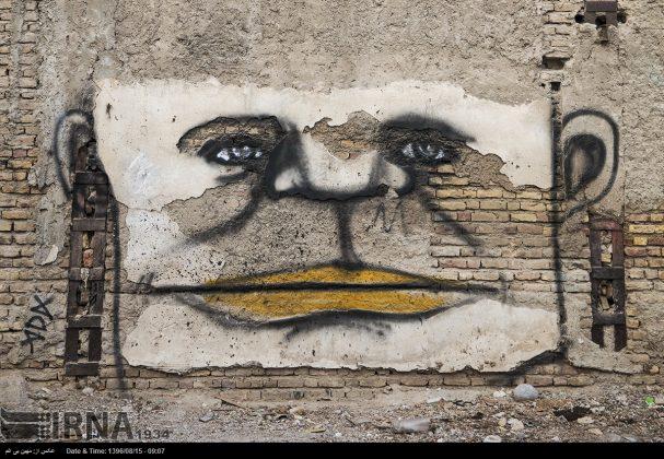 دیوارهای پوشیده از «گرافیتی» بندر عباس12
