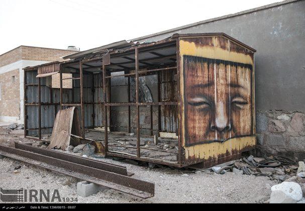 دیوارهای پوشیده از «گرافیتی» بندر عباس13