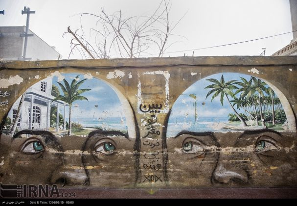 دیوارهای پوشیده از «گرافیتی» بندر عباس2