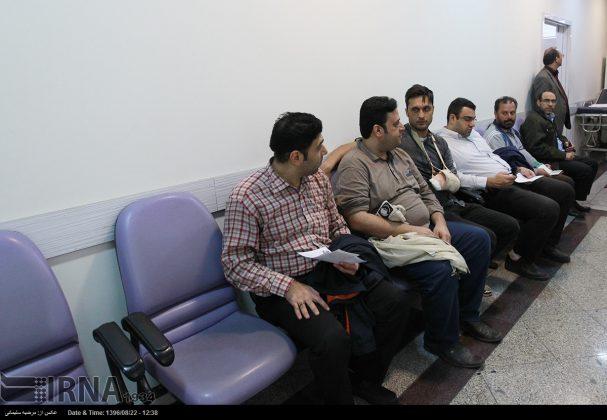 صف مردم تهران برای اهدای خون به زلزلهزدگان2
