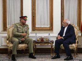 Iran FM, Pakistan Army Chief Discuss Security Ties