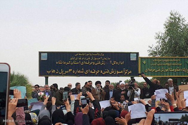 Líder iraní visita a Kermanshah para expresar su condolencias con las víctimas del terremoto 3