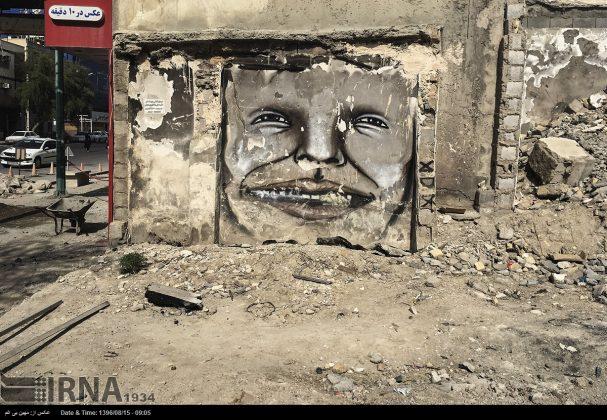 دیوارهای پوشیده از «گرافیتی» بندر عباس5