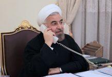 رئيسا ايران وفرنسا يبحثان هاتفيا القضایا المشترکة