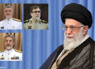القائد الخامنئي يُعيِّن ثلاثة قادة جدد في الجیش الإیراني