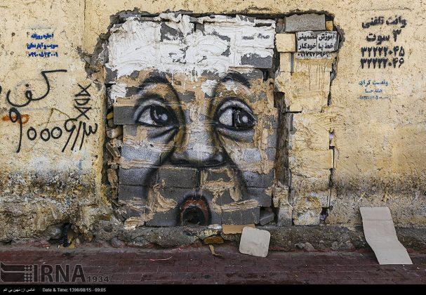 دیوارهای پوشیده از «گرافیتی» بندر عباس6
