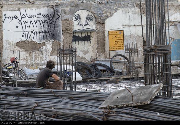 دیوارهای پوشیده از «گرافیتی» بندر عباس8