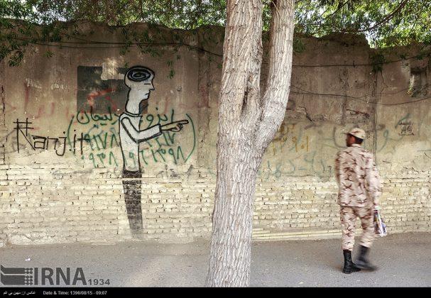 دیوارهای پوشیده از «گرافیتی» بندر عباس9