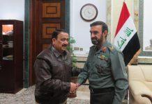 الملحق العسكري الايراني يلتقي وزير الدفاع العراقي