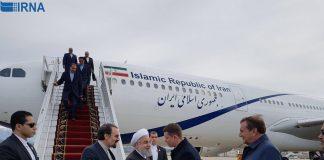 الرئيس روحاني يصل الى سوتشي الروسیئ للمشاركة في القمة الثلاثية