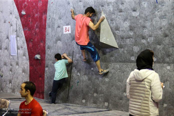 بطولة تسلق الصخور بمدينة قم الايرانية