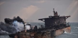 Two More Bodies Recovered from Burning Iranian Oil Tanker