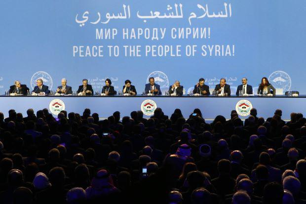 Syrian peace conference delegates announce progress in Sochi
