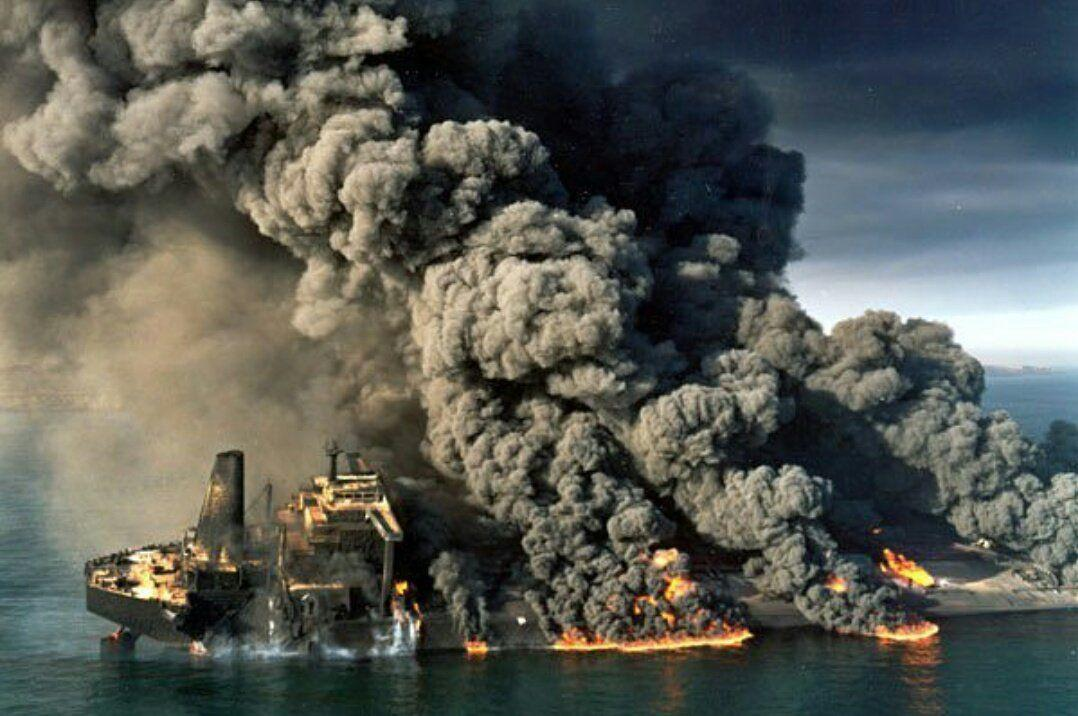 Burning Iranian oil tanker finally sinks after January 6 accident