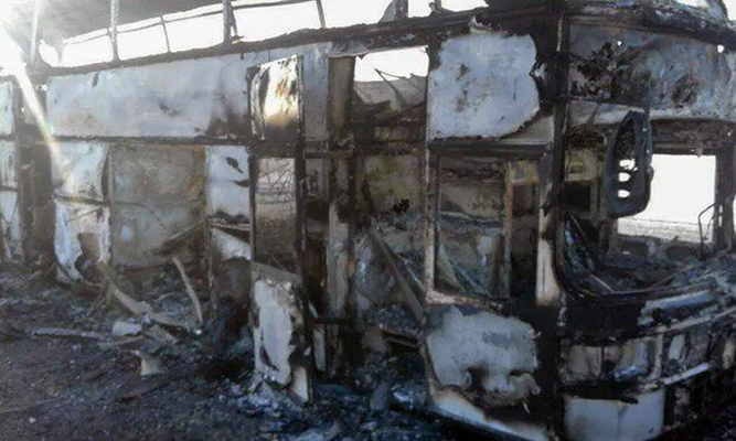 Bus fire in Kazakhstan: Short circuit a preliminary cause of fire