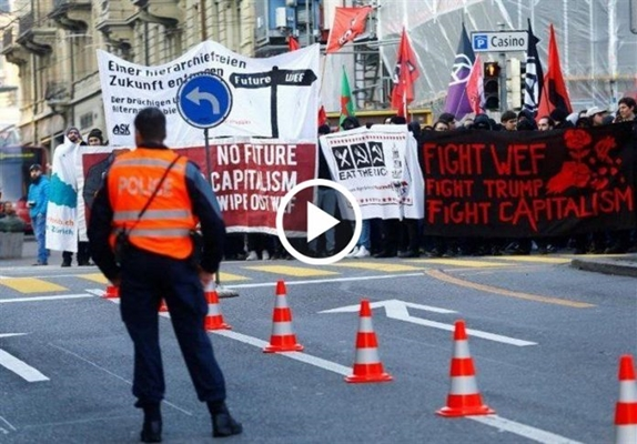 Protests Roil Swiss Cities Ahead of Trump's Davos Visit