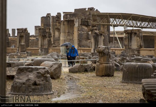 A Rainy Day in Persepolis