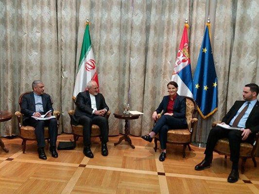 Iran FM-Serbia PM