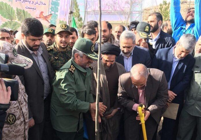 IRGC Chief Says Basij Forces Ready to Plant Trees across Iran