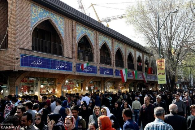 Tehran Bazaar Is Very Busy during Days before Nowruz