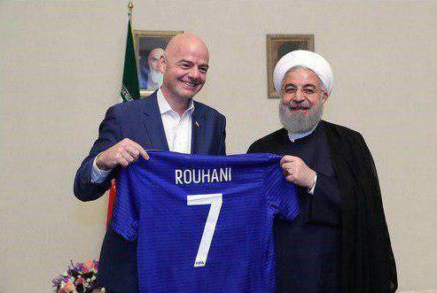 Iran's Rouhani pledges women to get access to stadiums - FIFA chief