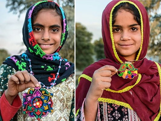 Girls Selling Handicrafts Online To Help Develop Their Remote Village