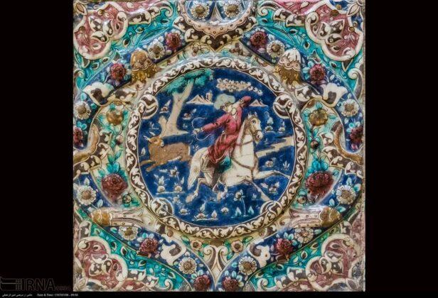 Hunting Scenes on Tiles of Tehran's Golestan Palace