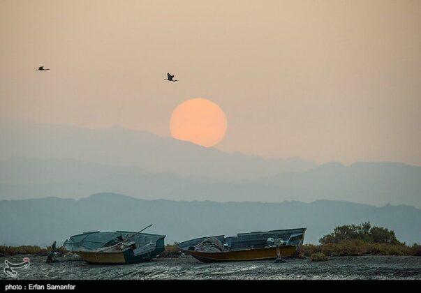 Sunset in Sirik Lagoon, Iran