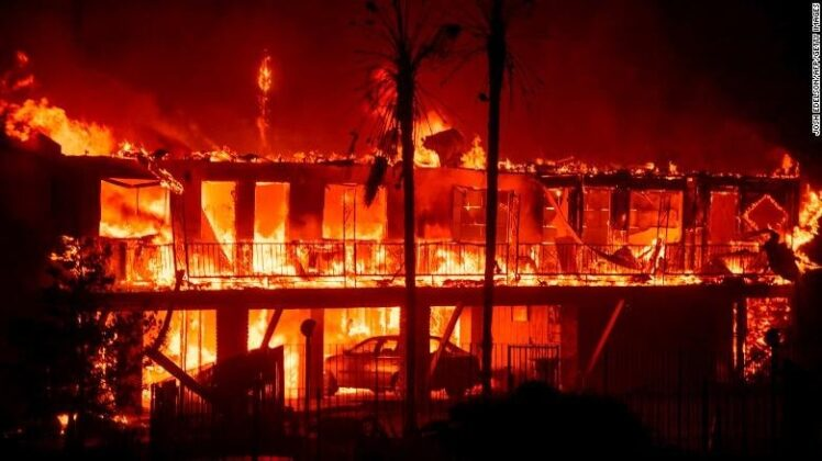 The Paradise Inn burns on Nov. 8 / Photo by Getty Images