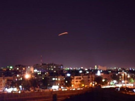 Syrian air defense respond to suspected Israeli attack