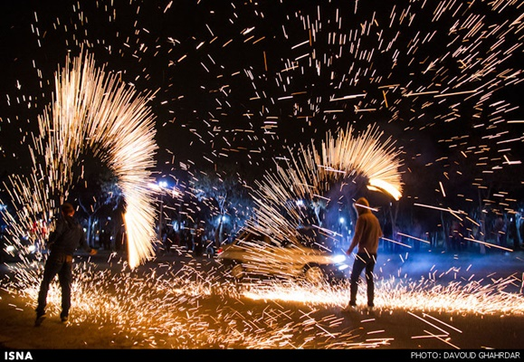 People of Zanjan Celebrate 'Fireworks Wednesday' in Own Way