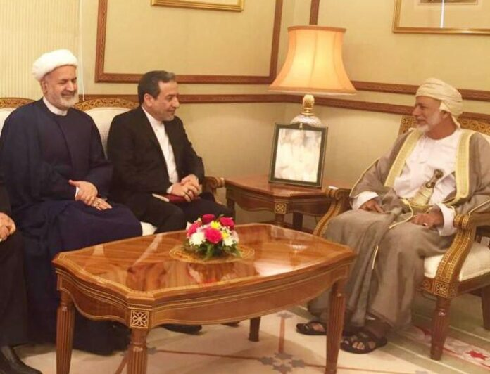Abbas Araghchi deputy foreign minister of Iran met foreign minister of Oman in Muscat