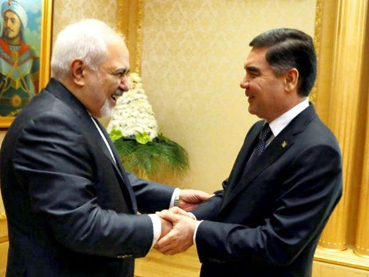 Iran FM, Turkmen President Discuss Bilateral Ties