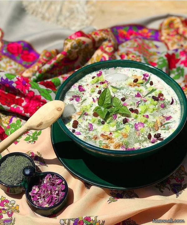 Chilled Yogurt Soup, Delicate Persian Dish for Hot Days