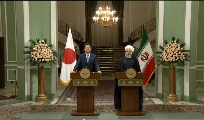 Rouhani and Abe Joint Press Conference