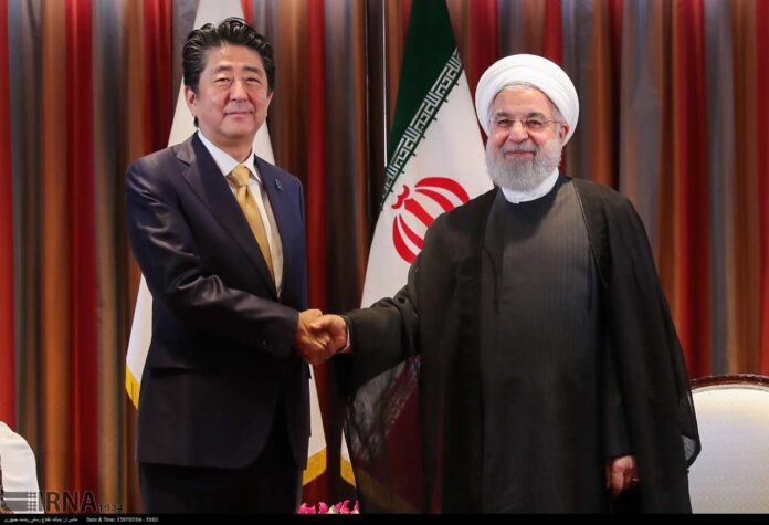Japanese Prime Minister Shinzo Abe and Iran president Hassan Rouhani
