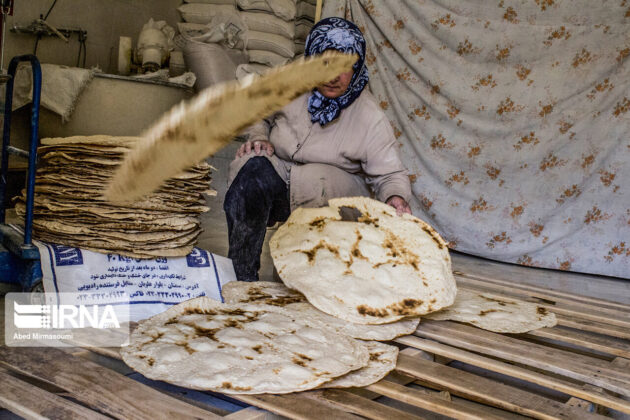 Women Baking Bread in Iran