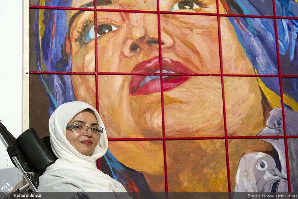 Disabled Woman Using Her Mouth To Paint Video Iran Front Page