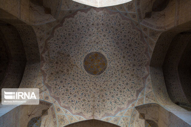Artworks in Ali Qapu Historical Palace, Iran