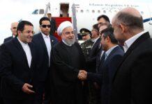 President Rouhani in Baku Azerbaijan