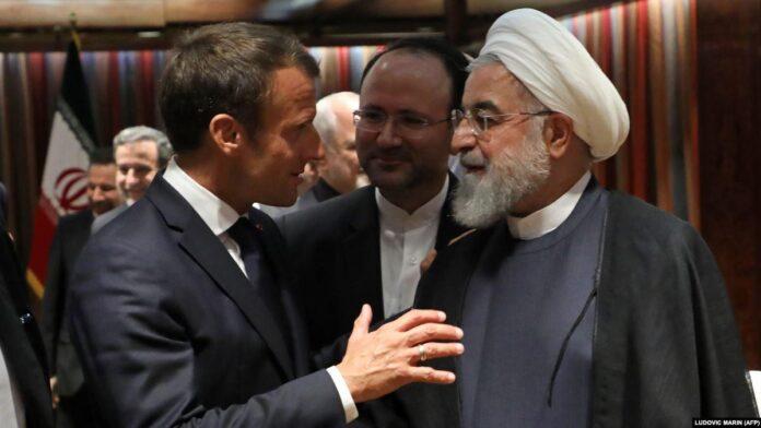 Rouhani and Macron meeting in UNGA