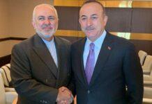 Zarif and Turkish FM Meeting in Baku